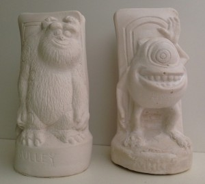 Sulley and Mike plaster of paris