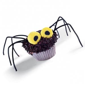 spider cupcake