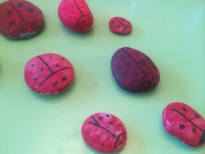 painted ladybirds