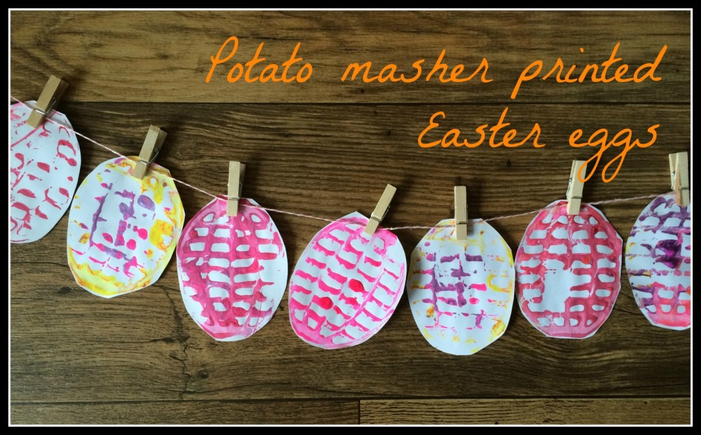 potato masher printed easter eggs
