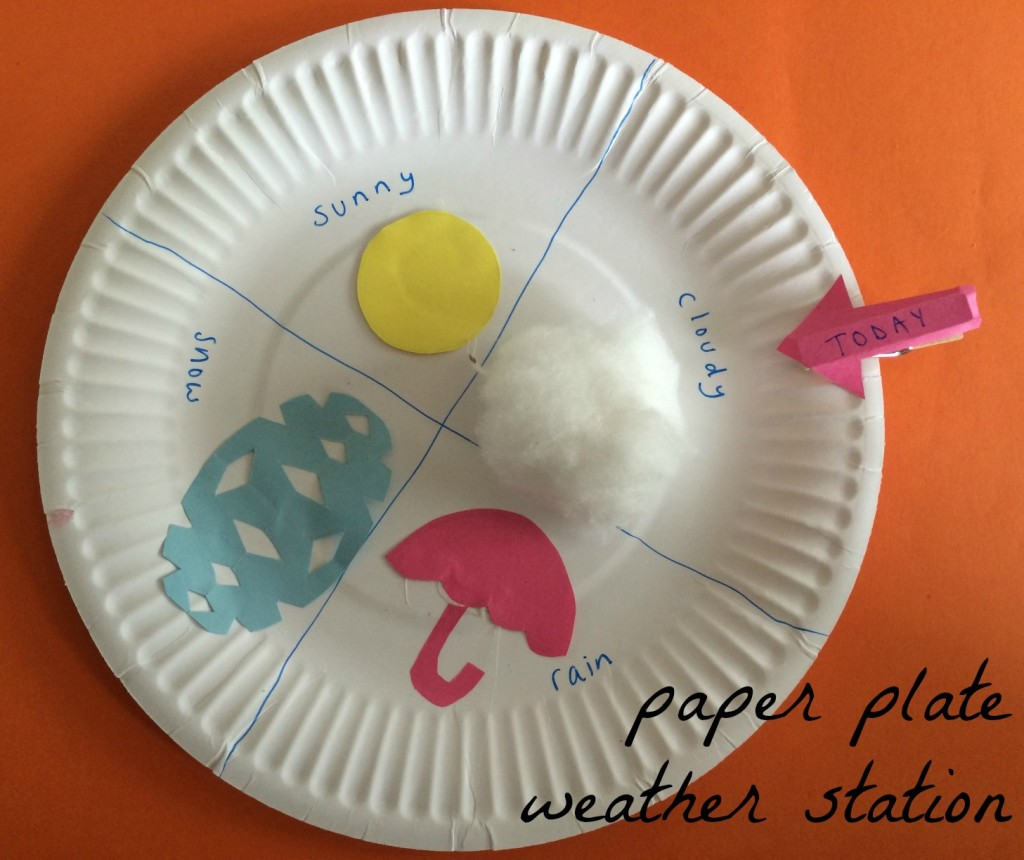 paper plate weather station