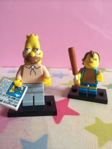 The Simpsons lego minifigs
