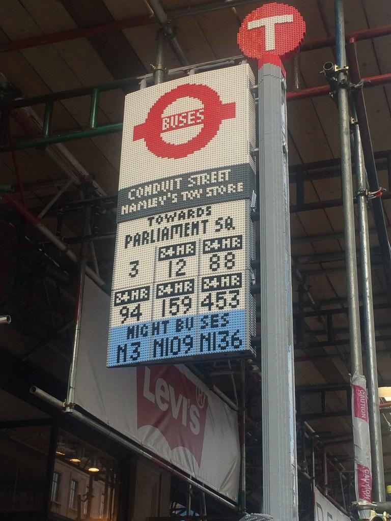 lego bus stop - treading on lego