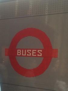 #Legobusstop roundel - treading on lego