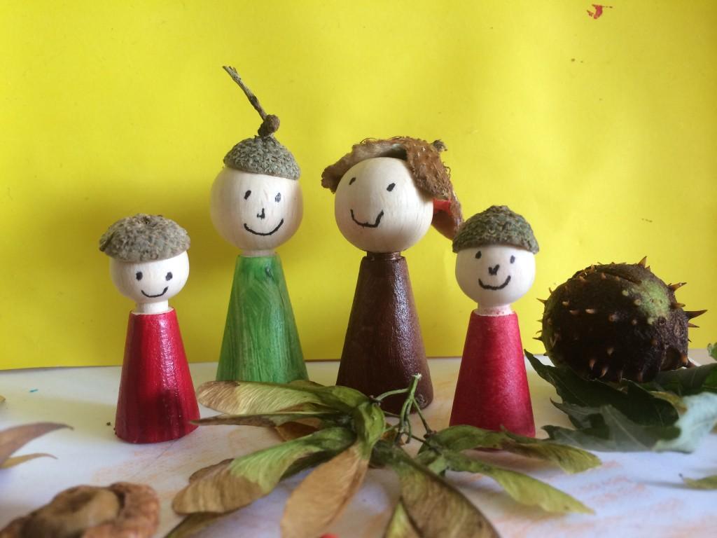 acorn people - treading on lego