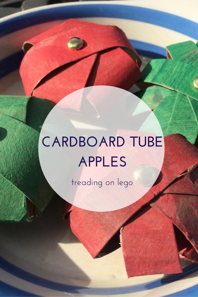 cardboard tube apples