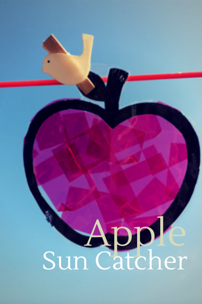 Apple sun catchers - treading on lego