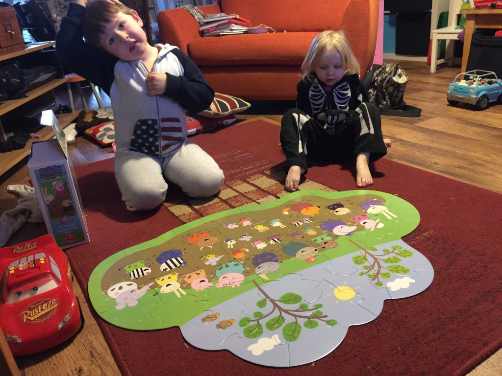 Giant Muddy Puddle Floor Jigsaw Puzzle