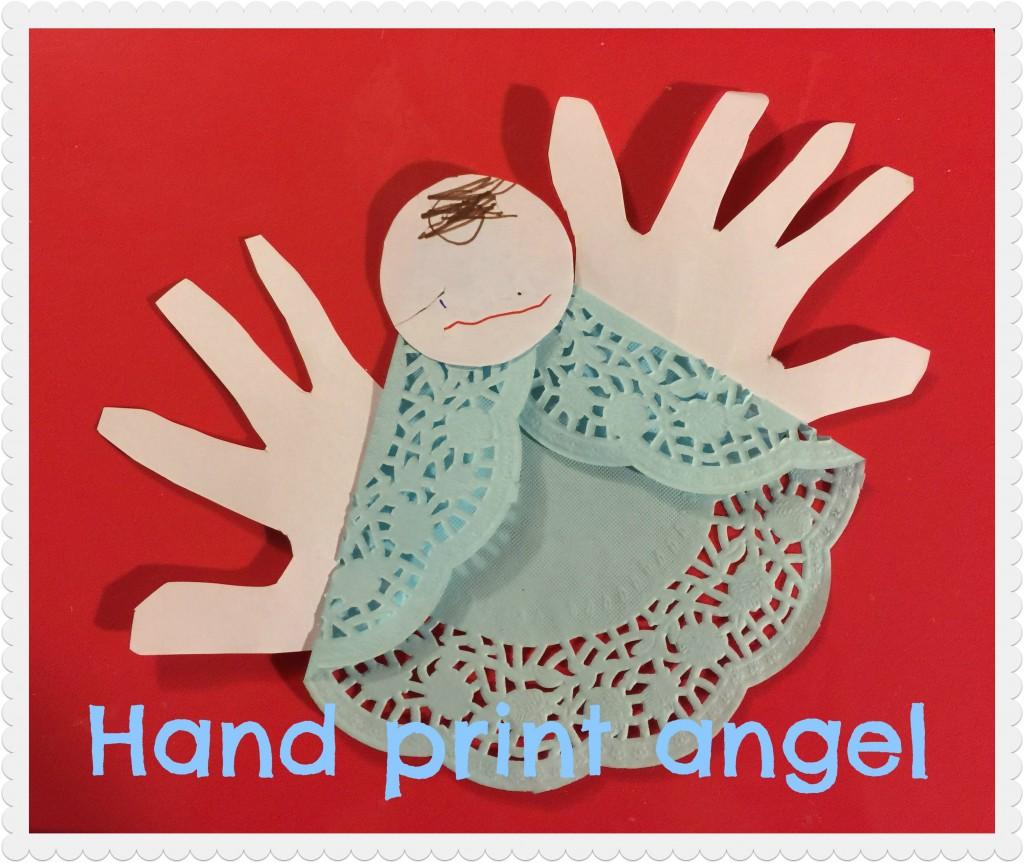 hand print angel