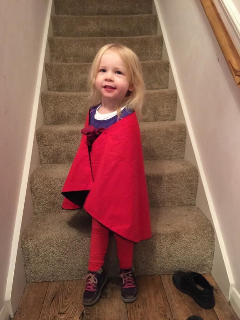 homemade Superman costume