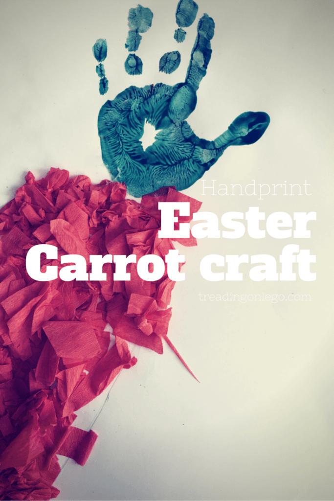 Handprint Easter carrot craft