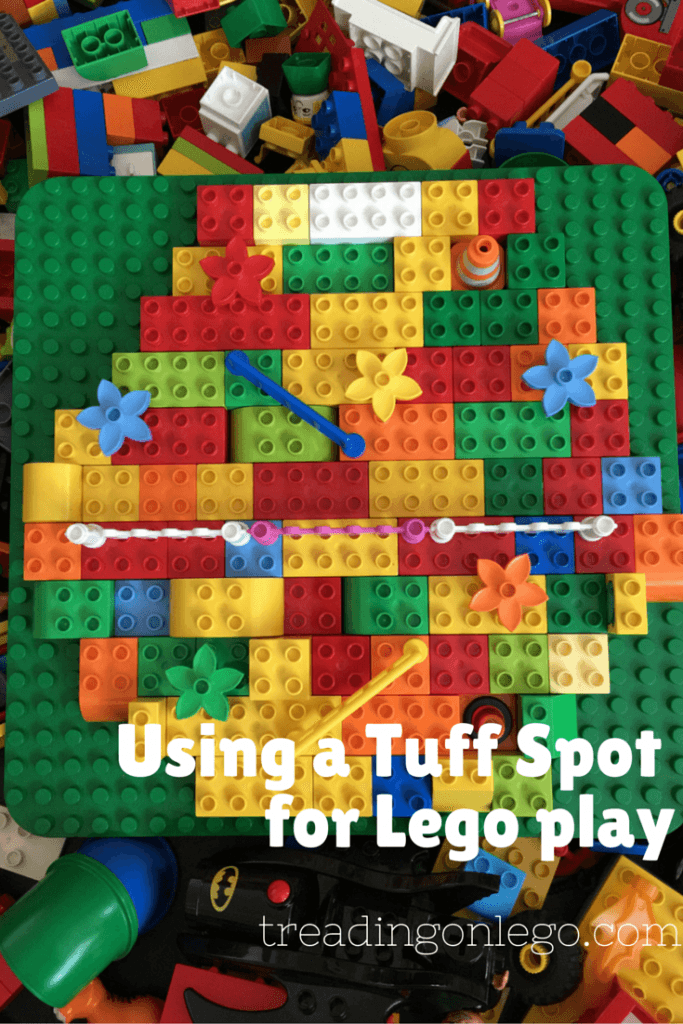 Using a Tuff Spot for Lego play