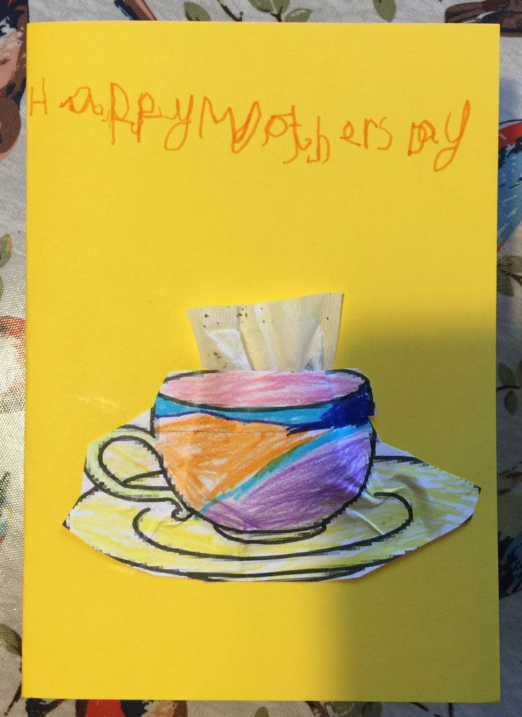 Mothers Day card with tea bag