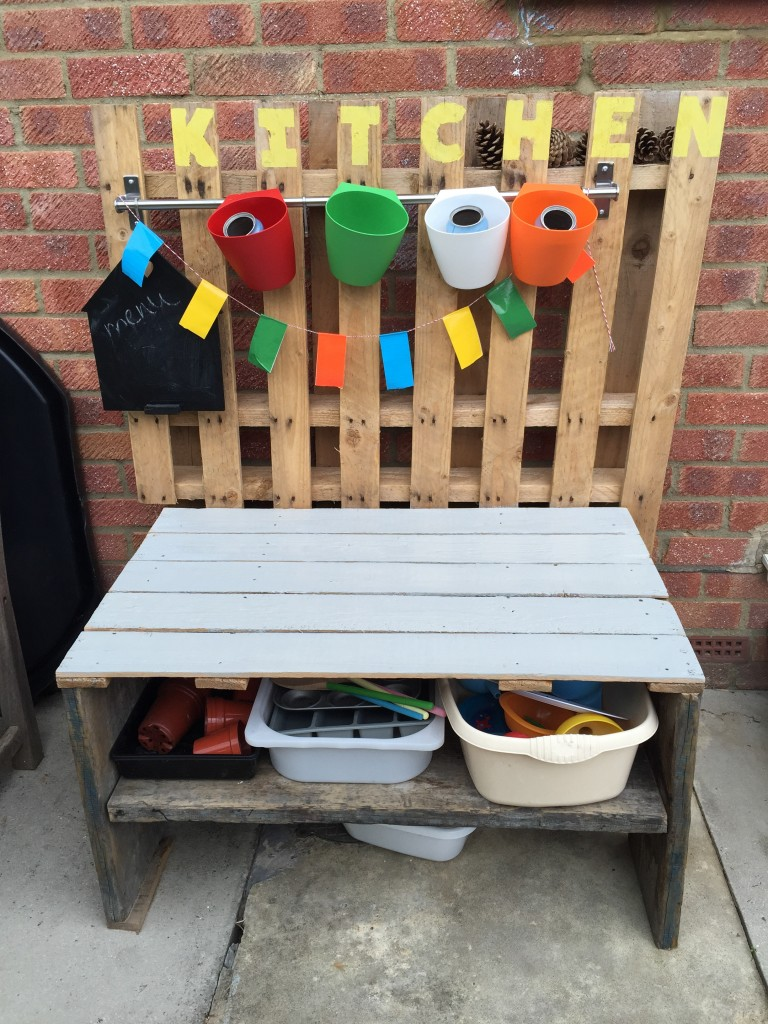 home made mud kitchen