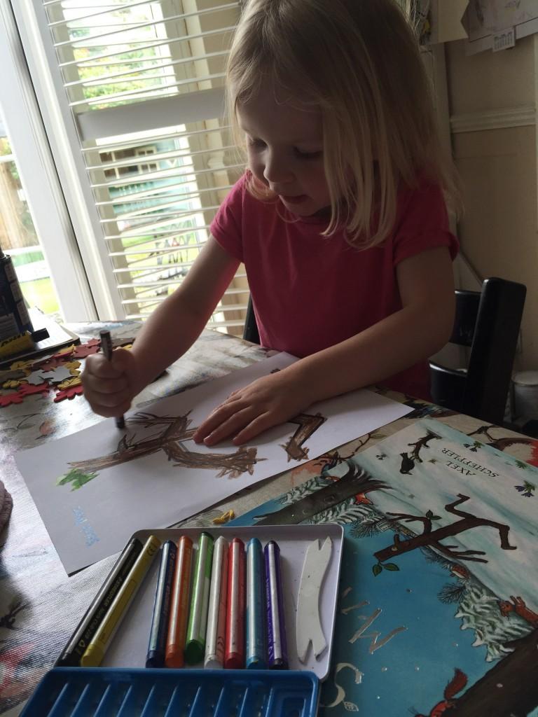 Stick Man colouring sheet