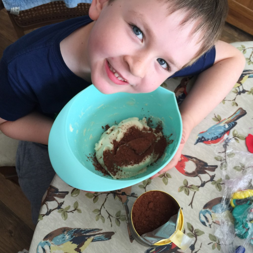 Charlie and the Chocolate Factory-inspired chocolate play dough