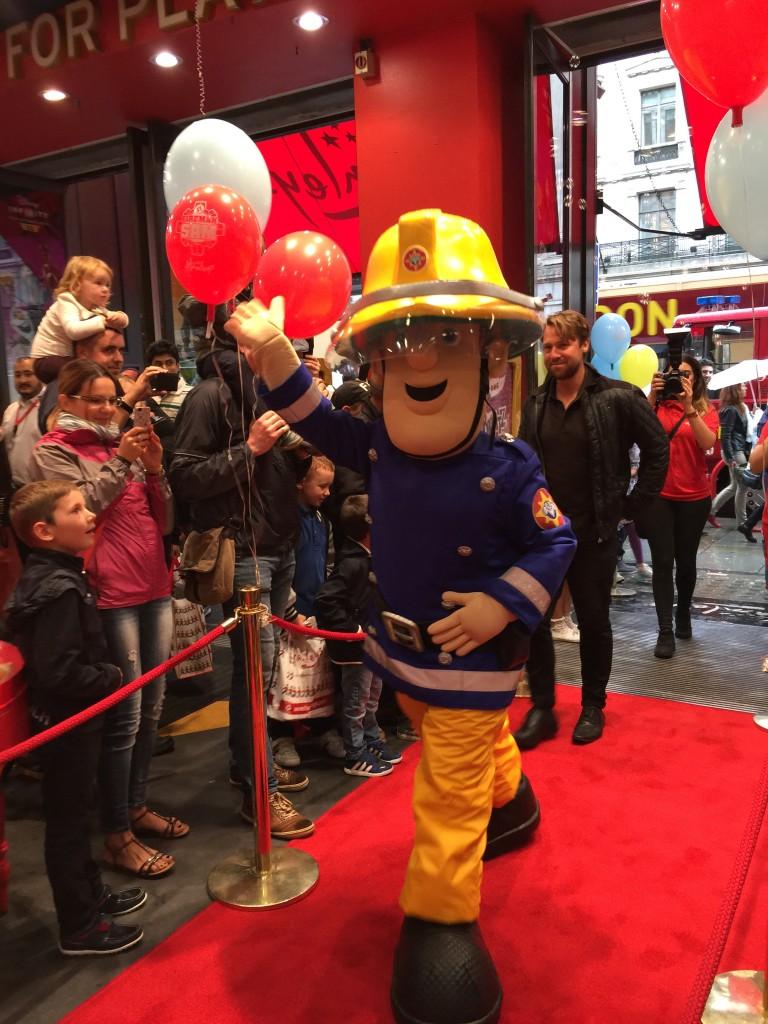 Fireman Sam at Hamleys