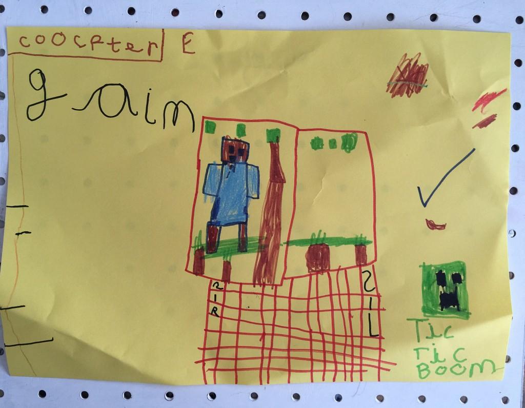 Minecraft drawing