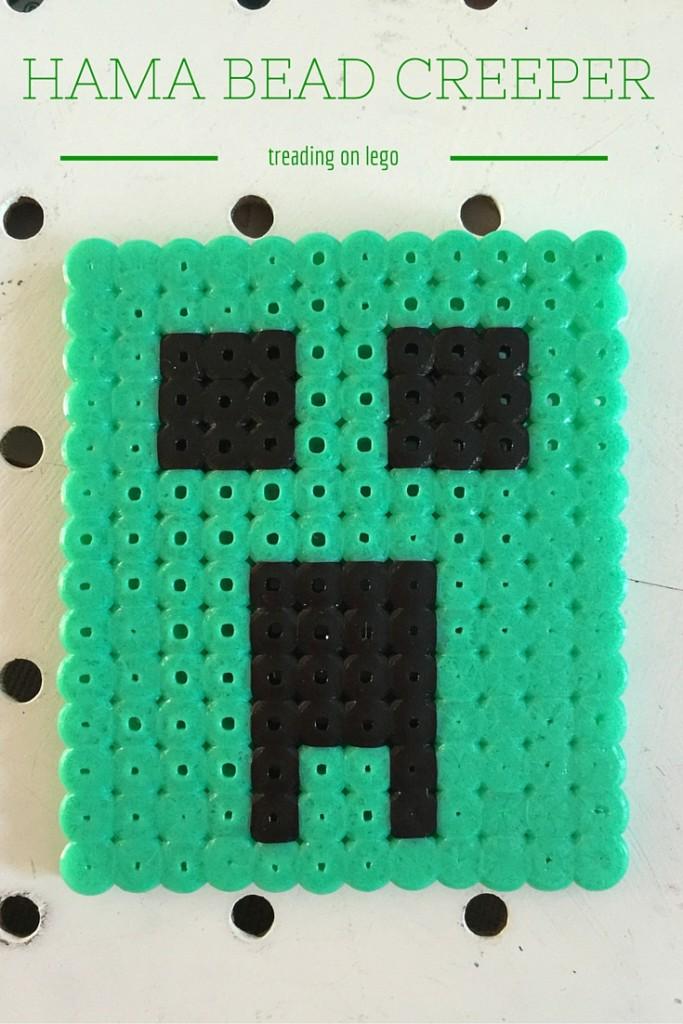 hama bead creeper from Minecraft