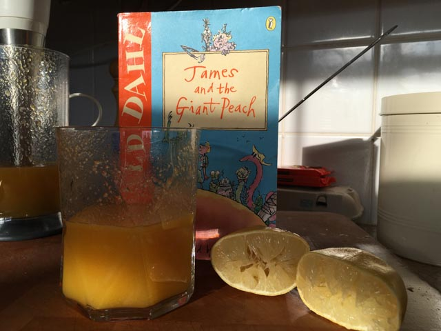 James and the Giant Peach Juice
