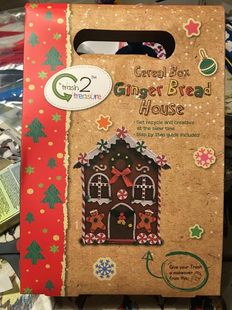 gingerbread house cereal box