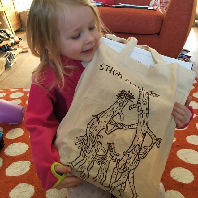 girl with Stick Man goody bag