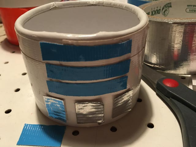 Duck Tape R2D2 container