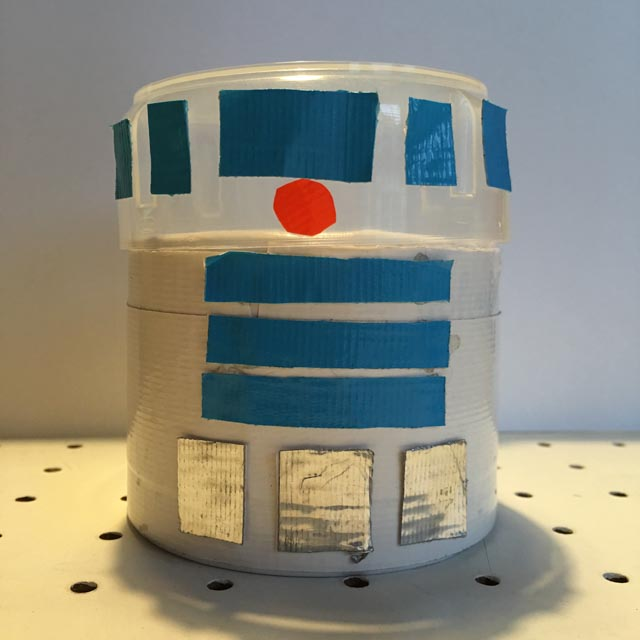 R2D2 Duck Tape container