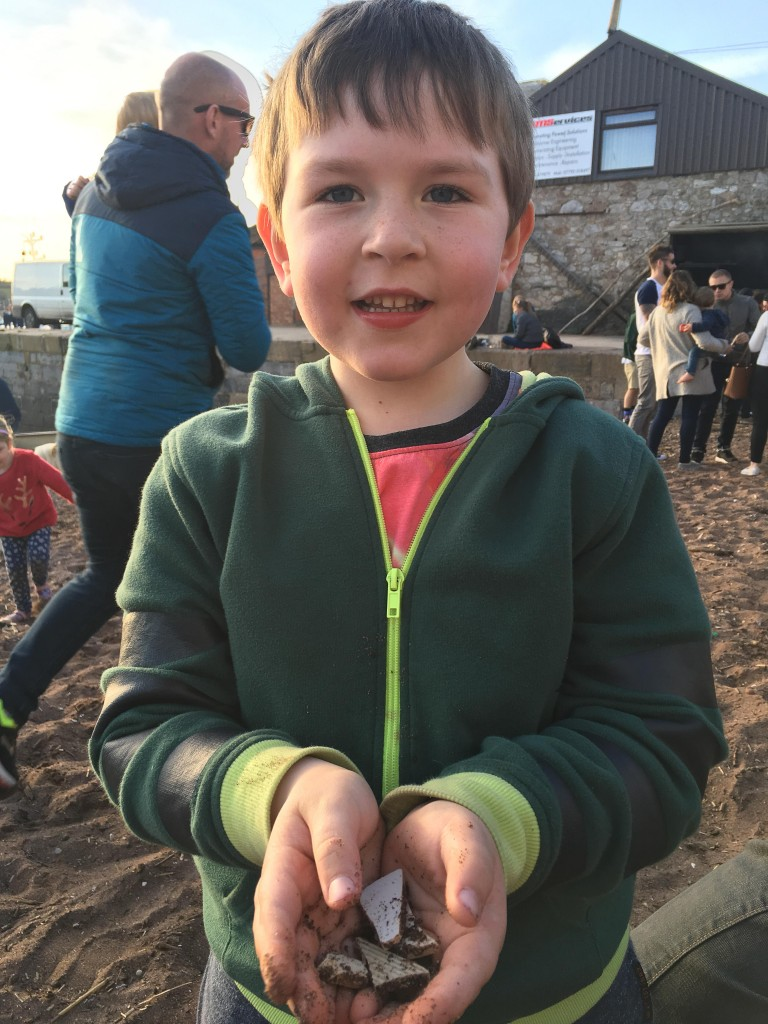 looking for treasure on the beach
