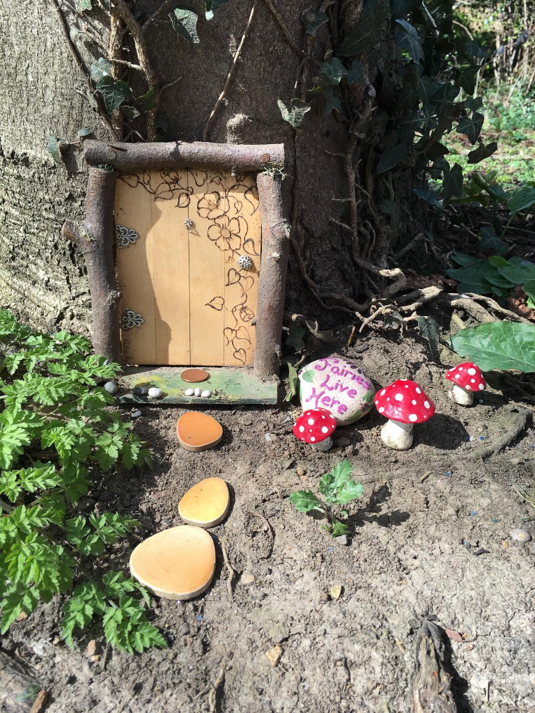 fairy door and toadstools