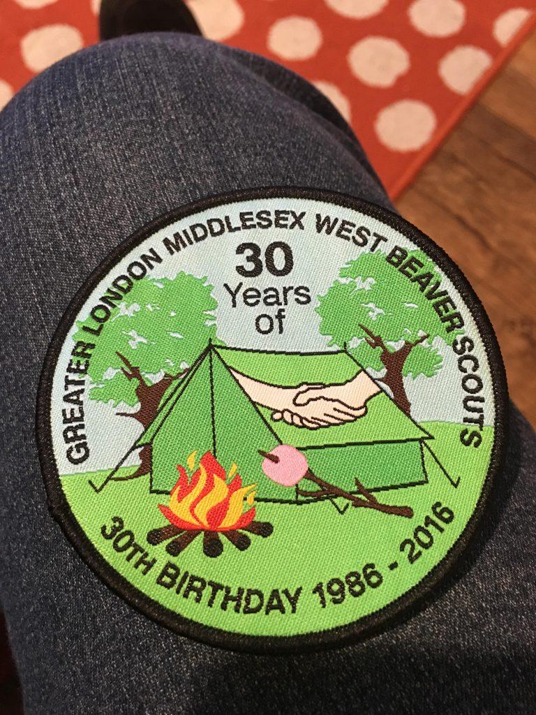 Beaver 30 badge