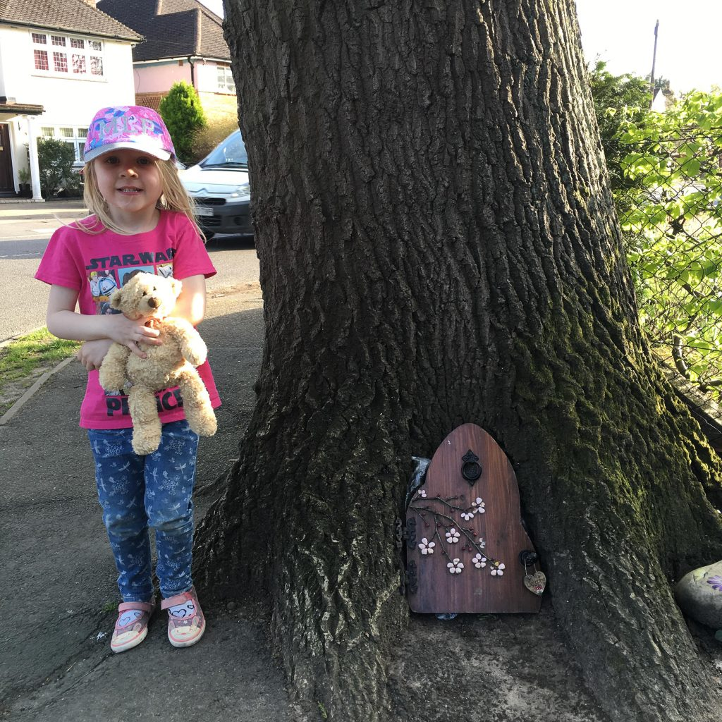 visiting the fairy house