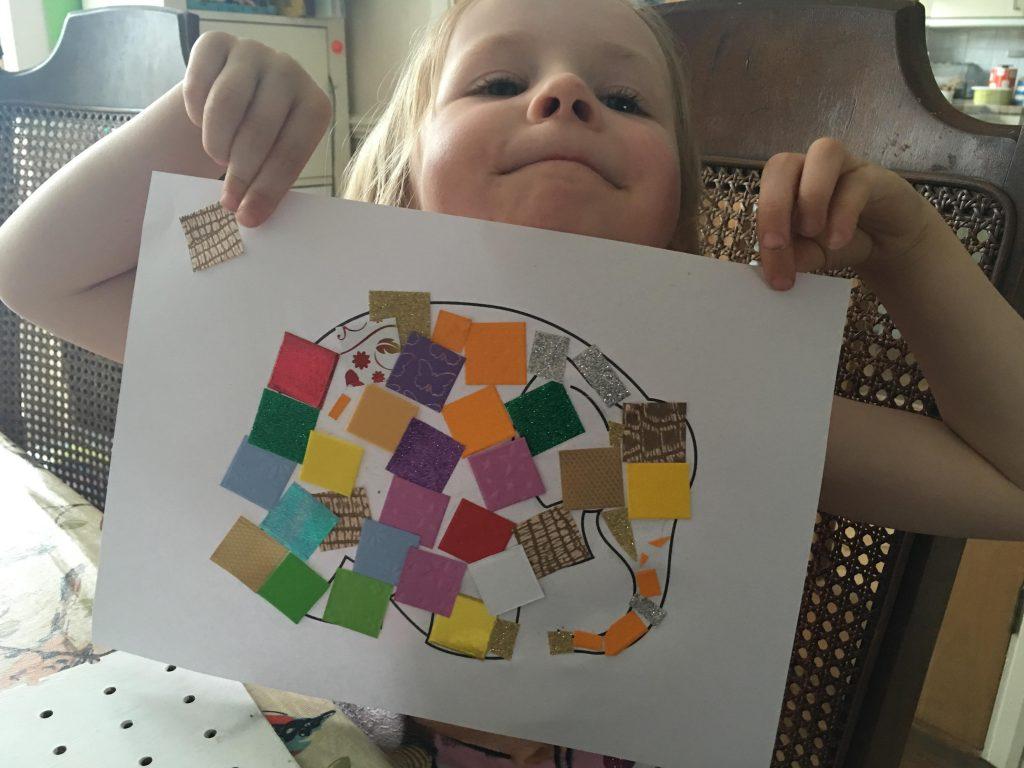 Elmer Day craft for kids