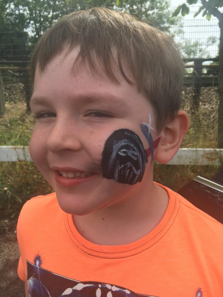 Darth Vadar face paint