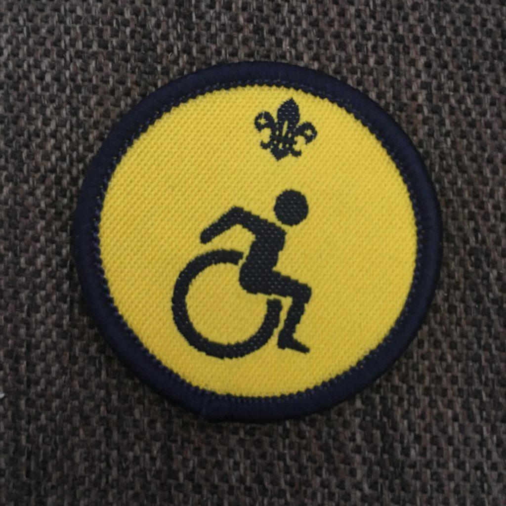 Beavers disability badge