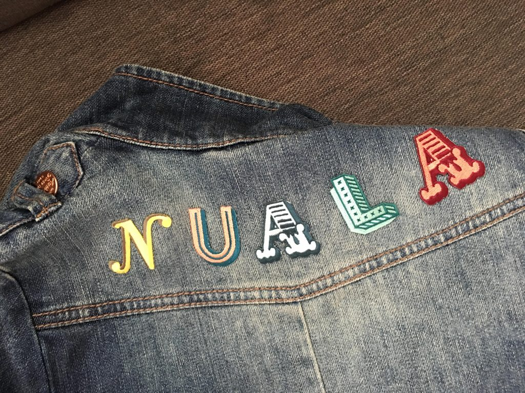 alphabet patches by Jennie Maizels