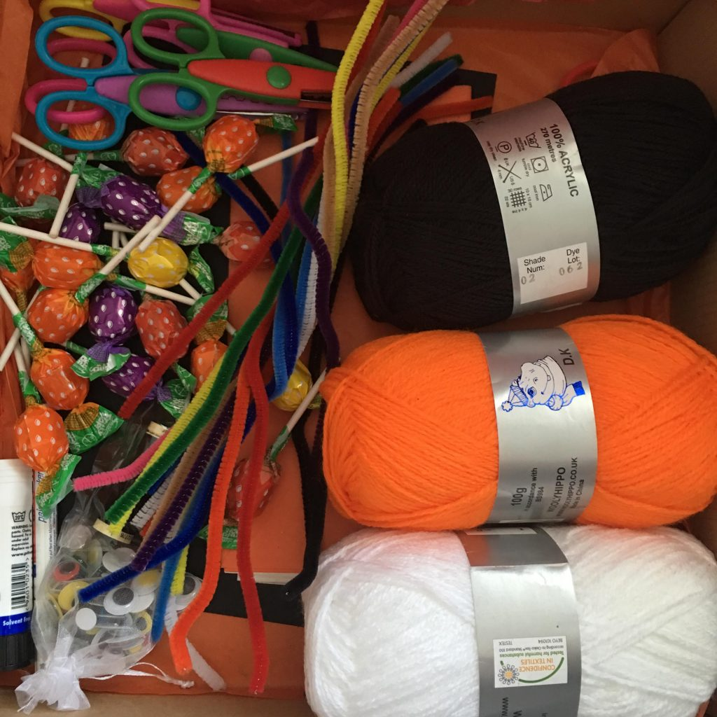 Halloween craft supplies