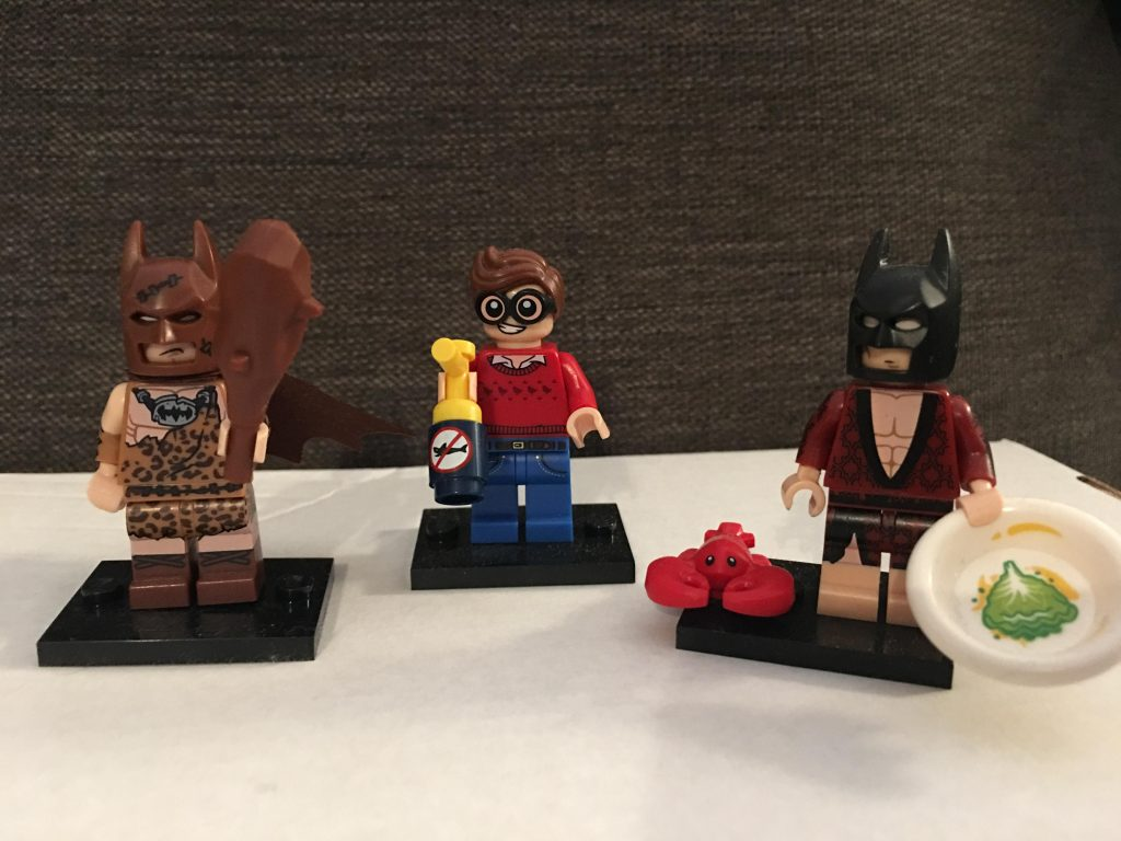 The Lego Batman Movie mini figures